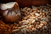Bag Prints - Food - Peanuts  Print by Mike Savad