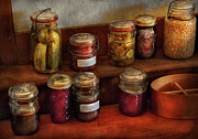 Canning Jars Posters - Food - Preserving History  Poster by Mike Savad