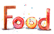 Donuts Painting Prints - Food Print by Regina Jershova