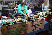 Merchant Posters - Food Vendors - Night Street Market - Chiang Mai Thailand - 01134 Poster by DC Photographer
