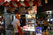 Vendors Posters - Food Vendors - Night Street Market - Chiang Mai Thailand - 01138 Poster by DC Photographer