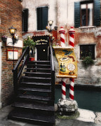 Menu Prints - Foot Bridge in Venice Print by George Oze