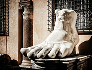 Ancient Ruins Prints - Foot of Constantine Revisited Print by Joan Carroll