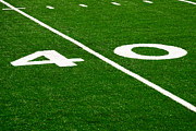 Marker Metal Prints - Football Field 40 Yard Line Picture Metal Print by Paul Velgos