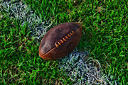 Pigskin Prints - Football - First and Goal Print by Paul Ward