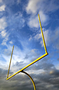 Stormy Weather Posters - Football Goal Posts Poster by Olivier Le Queinec