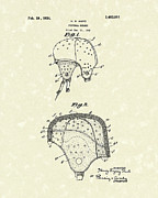 Helmet Drawings - Football Helmet 1924 Patent Art by Prior Art Design