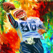 Nfl Sports Prints - Football II Print by Lourry Legarde