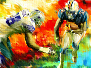 Nfl Sports Prints - Football III Print by Lourry Legarde