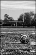 Goal Post Framed Prints - Football in Black and White Framed Print by Bill Cannon