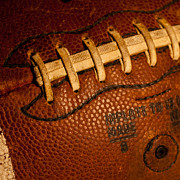 Footballs Closeup Photos - Football Laces by David Patterson