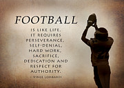 Vince Lombardi Prints - Football Print by Lori Deiter