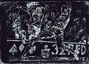 League Drawings Prints - Football Mania  Print by Rameshsingh Rajput