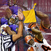 Nfl Sports Paintings - Football - Now Thats The Stuff by Reggie Duffie