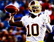 Redskins Posters - Football - RG3 - Robert Griffin III Poster by Paul Ward