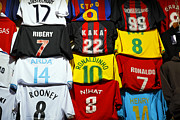 Clothes Clothing Art - Football shirts inside the Grand Bazaar in Istanbul Turkey by Robert Preston