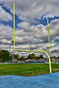 Yellow Line Prints - Football - The Goal Post Print by Paul Ward