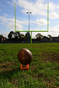 Pigskin Prints - Football - The Kickoff Print by Paul Ward