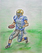 Sports Drawings Prints - Football  Print by Thuraya R