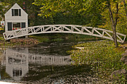 Somesville Maine Prints - Footbridge Reflections Print by Paul Mangold