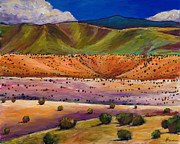 Taos Paintings - Foothill Approach by Johnathan Harris