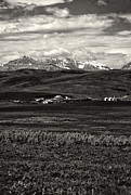 Alberta Foothills Landscape Framed Prints - Foothills Farm Framed Print by Roderick Bley