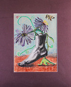 Bee Pastels Posters - Footloose Poster by Robert Stokes