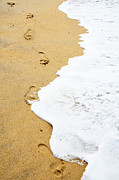 William Voon Metal Prints - Footprints along water edge Metal Print by William Voon