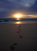 Footprints Print by Kelly Jones