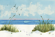 Oats Originals - Footprints on the Beach by Nan Wright