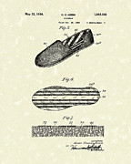 Men Shoe Posters - Footware 1934 Patent Art Poster by Prior Art Design