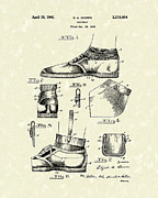 Shoes Drawings Prints - Footware 1941 Patent Art Print by Prior Art Design