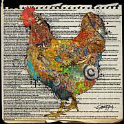 Golden Retriever Mixed Media - For and 1/2 Chickens by Jenny Berry