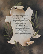 Jeremiah 29:11 Prints - For I know the plans I have for you Print by Becky West