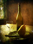 Wine-bottle Posters - For One Poster by Julie Palencia