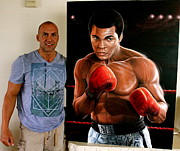 Www.sportsartworldwide.com  Paintings - For Sale Ali Original Painting Inquire For Price  by Sports Art World Wide John Prince