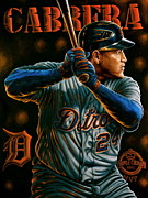 2012 World Series Paintings - For Sale Original Cabrera  Triple Crown Mvp Also 10 Limited Edition  Prints  by Sports Art World Wide John Prince