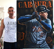 2012 World Series Paintings - For Sale Original Cabrera  Triple Crown Mvp Plus 10 Limited Edition  Prints  by Sports Art World Wide John Prince