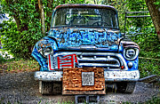 Chevy Pickup Prints - For Sale Truck and Eggs Print by Ken Smith