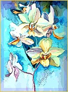 Orchids Digital Art Prints - For the Love Print by Mindy Newman