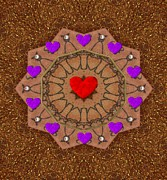 For The Love Of Hearts Print by Pepita Selles