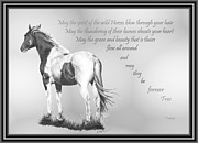 Custom Horse Portrait Prints - for the Wildies Print by Marianne NANA Betts