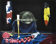 First World War Painting Metal Prints - For Those Who Fell At Passchendaele Metal Print by Alan Berkman