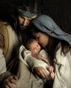 Baby Jesus Photo Prints - For Tonight You Are Mine Print by Helen Thomas Robson