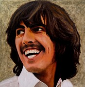 George Harrison Art - For You Blue by Jena Rockwood