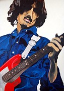 George Harrison Paintings - For You Blue by Melvyn Thomas