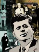 4th July Digital Art Posters - For Your Country John F. Kennedy Poster by Dancin Artworks