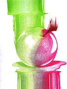 Stretching Drawings Prints - Forbidden Fruit Print by Dominick Hambrick