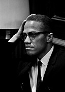 Malcolm X Framed Prints - Forceful Resistance Framed Print by Benjamin Yeager