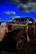 1935 Ford Coupe Posters - Ford 1935 Poster by Steve McKinzie